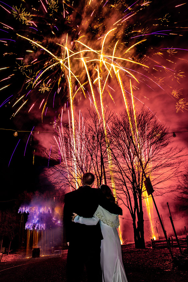 wedding firework displays